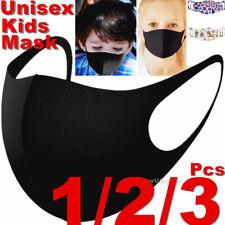 Kids Boys Girls Child Black Unisex Face Masks Cloth Mask Cover Reusable Washable