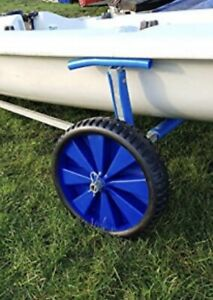 Pair Of Sailing Dinghy  Launching Trolley Wheels With Washers And R Clips