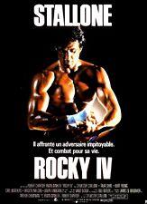 ROCKY IV Affiche Cinéma 53x40 Movie Poster SYLVESTER STALLONE