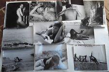10 PHOTOS D'EXPLOITATION CINEMA. UN EPAIS MANTEAU DE SANG. Valérie Lagrange 1968
