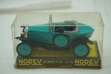VINTAGE DIECAST CAR NOREV CITROEN 5 HP NO 46 FRANCE TURQUOISE PLASTIC BOX 1:43