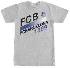 FC Barcelona Barca Spain Club Team Gray T Shirt 1899 Soccer Futbol Men Medium