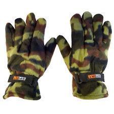 2 Pairs: Men's Nochilla Fleece Camouflage Gloves by Refael Collection