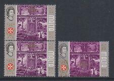 MALTA - 1965/70, 1s6d-Timbro con iscrizione Oro nella parte superiore invece del centro