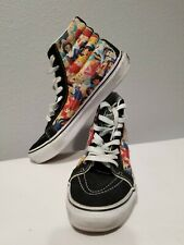 Vans Disney Princess Womens sz 7 Canvas Sneakers Shoes Hi Tops Men sz 5.5 RARE