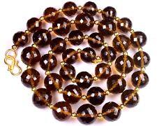 N-0035/1 Honey Quartz Gemstone Round Faceted Loose Bead 10x13mm 344Ct Necklace $