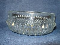 Vintage Cut 24% PbO Lead Crystal Clear Serving Bowl Made in England EUC