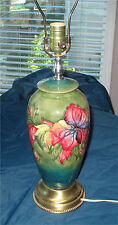 MOORCROFT LAMP IN ORCHID PATTERN SUPERB 1950'S