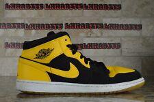 Nike Air Jordan Retro 1 OG Mid New Love Size 13 Black Yellow White 554724 035