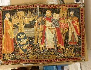 KING ARTHUR BELGIAN TAPESTRY WALL HANGING