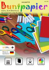 Buntpapier Bastelpapier Farbiges Papier DIN A4 100 Blatt - 4 Farben #1202