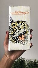 Ed Hardy By Christian Audigler Purse Wallet Roaring Tiger Pre Owned Good