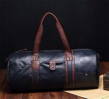 Men's PU Leather Vintage  Shoulder Bag travel bag Luggage shoulder Bag