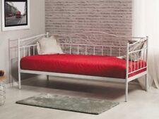 Bett Bettgestell Metallbett Bettrahmen Einzelbett Jungendbett 90x200 Weiß