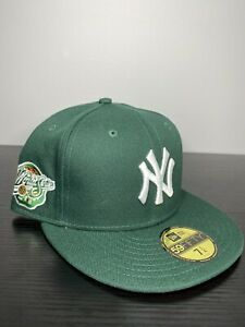 Hat Club Exclusive 7 1/4 Yankees Fitted Hurricanes Green Orange Bottom 98 Patch