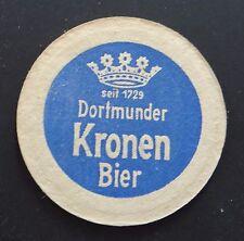 Ancien sous-bock épais bière DORTMUNDER KRONEN BIER bier Coaster Bierdeckel 3