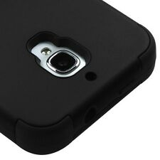 Alcatel One Touch FIERCE 7024W - HARD&SOFT RUBBER HYBRID HIGH IMPACT BLACK CASE