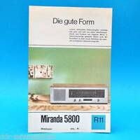 Miranda 5800 Mittelsuper DDR 1968 | Prospekt Werbung DEWAG Werbeblatt R11 B
