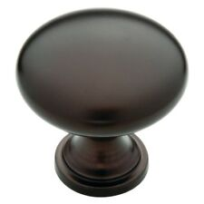 """25pc Cabinet Hardware Round Knobs p11747 Oil Rubbed Bronze pull 1-1/4"""" Diameter"""