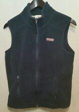 Vineyard Vines Women Navy Blue Fleece Full Zip Sleeveless Vest S Small