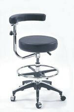 Altura Ajustable Swing backrest/armrest « enfermeras dentales » Taburete Silla (Negro)
