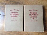 Eduard Engel: Geschichte der Deutschen Literatur (2 Bde., mit Abb.)   1922 antik