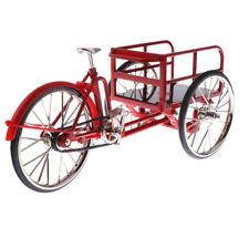 Rouge 1:10 Échelle Miniature Maison De Poupée Tricycle Modèle Vélo De