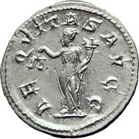PHILIP I the ARAB 246AD Rome Authentic Ancient Silver Greek Coin AEQUITAS i65307
