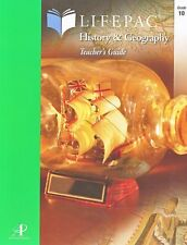 Alpha Omega Lifepac History & Geography Teacher's Guide, Grade 10 NEW!