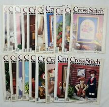 Cross Stitch and Country Crafts 8o's and 90's Magazine lot of 19