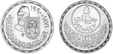 5 SILVER POUNDS EGYPT/5 LIBRAS PLATA EGIPTO. FACULTAD DAR-EL-ELOUN. 1990. UNC/SC