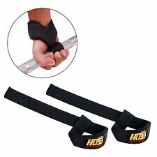 AUTHENTIC WEIGHT LIFTING BAR STRAP WRAPS EXERCISE GYM BODY BUILDING WRIST STRAPS