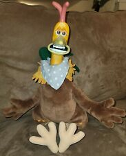 Vtg Chicken Run Rocky Movable Facial Expressions Playmates Dreamworks Plush Doll