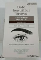 Equate Bold Beautiful Brows Tinted Brow Styling Gel DARK BROWN - NEW