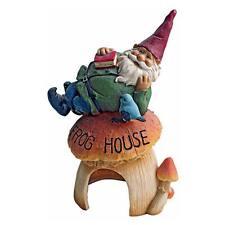 GNOMES FROG HOUSE GARDEN STATUE DESIGN TOSCANO gnome statue  gnomes  gnome dcor