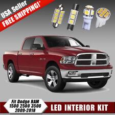 Pure White LED Interior Light Package Deal Kit For 2009-2018 Dodge RAM 1500 2500