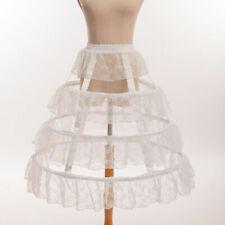 Lady White Lace Hoop Bustle Adjustable Crinoline Cage Petticoat Pannier Lolita