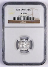 2008 $10 American Platinum Eagle 1/10 Oz .9995 - NGC MS 69