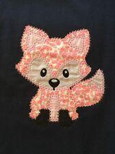 Girls Shirt Size 3 Fox Birthday Gift Embroidered