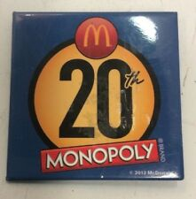 2012 McDonald's 20th Monopoly Pin Badge Pinback Advertising