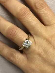 2.00 Ct Round Cut Solitaire Diamond Engagement Ring 18K Solid Yellow Gold