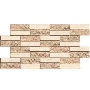 3D Beige Textured Brick PVC Interior Wall Panels Kitchen Cladding Bathroom Home
