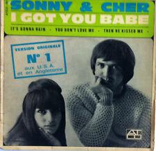 SONNY & CHER I Got You Babe VINYL 45 T CED ATCO 101 France 1965