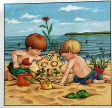 Mary Engelbreit Handmade Magnets-At The Beach