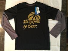 Boys Champion 'The Game Is Over' Long Sleeve Shirt Size L NEW