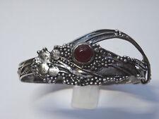 Modernist  Armband Silber Bracelet Karneol Edelstein Armreif sign. MBJ  Nr.221