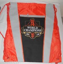 Orange Black SF GIANTS 2014 WORLD CHAMPIONS DRAW STRING BACKPACK NEW SGA 2015