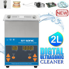 2L DIGITAL Ultrasonic Cleaner Heater Timer Sonic Wave Tank Jewellery Cleaning AU