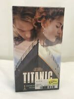 Brand New Factory Sealed TITANIC (VHS, 2-Cassette Tapes, 1998) Dicaprio