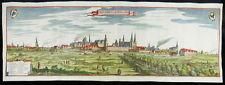 BERLIN GROßE ORIGINAL KUPFERSTICH PANORAMA ANSICHT CASPAR MERIAN 1652